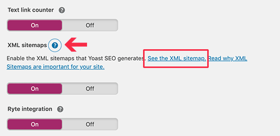 View XML Sitemap created by Yoast SEO plugin