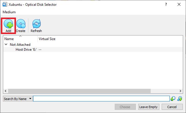 The Xubuntu - Optical Disk Selector screen