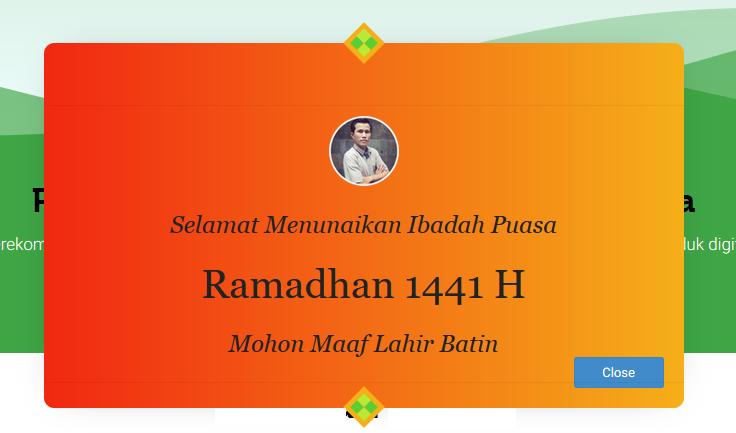 Download Banner Pop up Ramadhan 1441 H