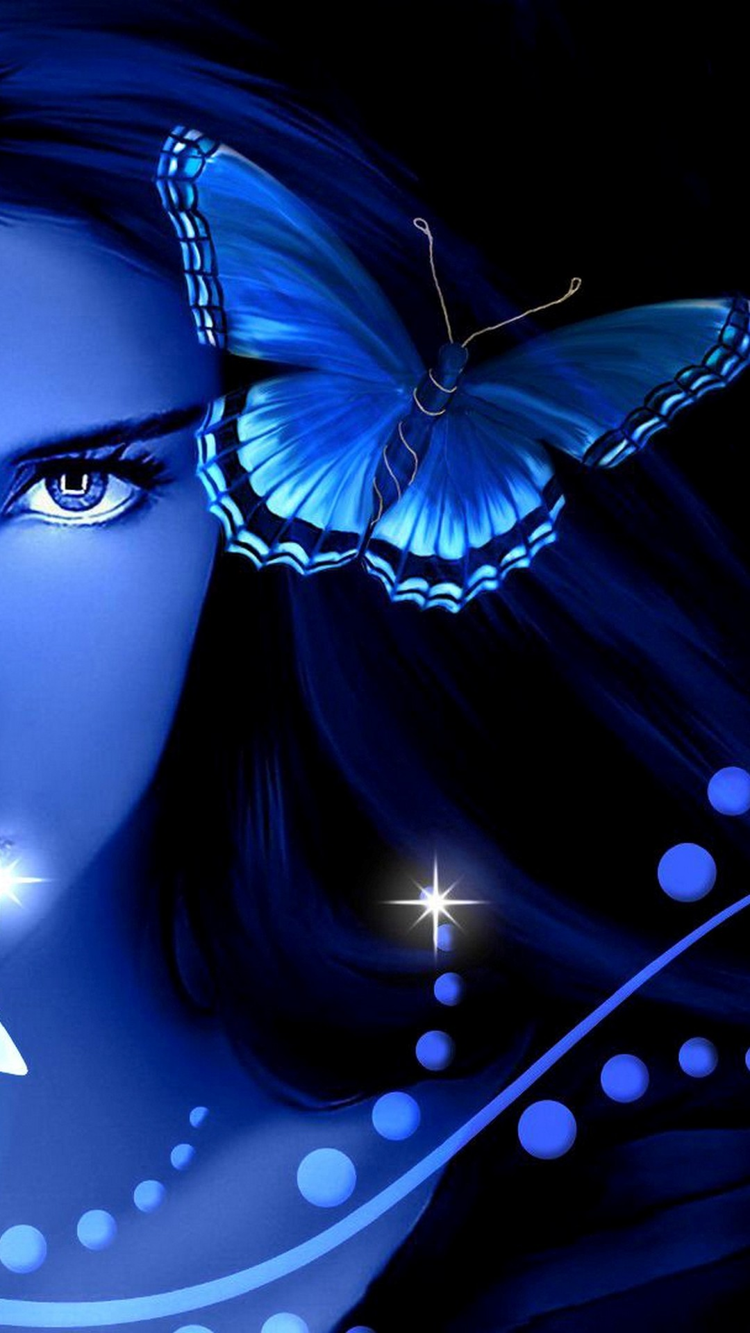 Android Blue Butterfly Wallpaper Hd