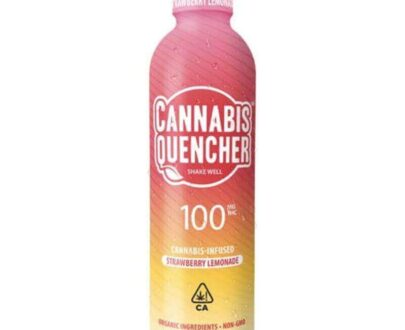 Cannabis infused strawberry lemonade cannabis quencher