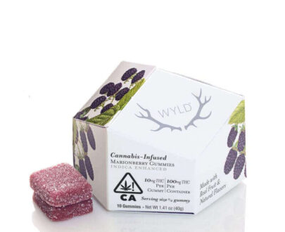 Wild cannabis infused marionberry Indica gummy's