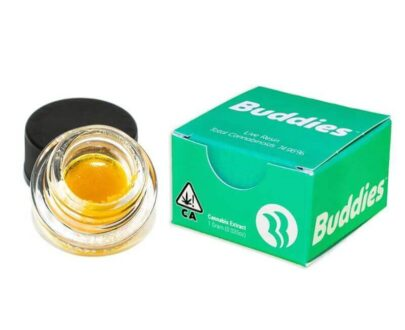 Cannabis concentrate in a jar