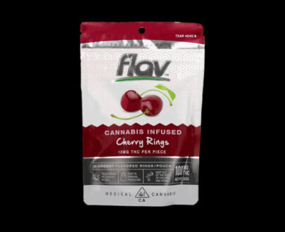 Flav - Cannabis Infused Cherry Gummy Rings 100mg