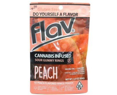 Flav - Cannabis Infused Sour Peach Gummy Rings 100mg
