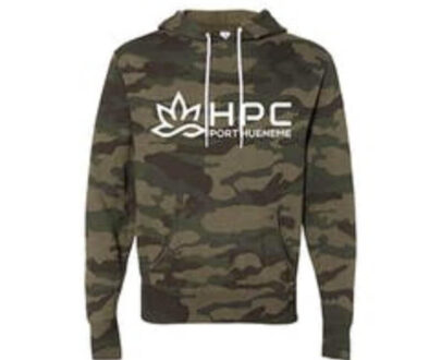 420 HPC- Hueneme patient collective camo hoodie small
