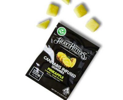 Heavy Hitters Ultra Potent Pineapple cannabis infused gummies