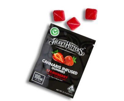 Heavy Hitters Ultra Potent Strawberry cannabis infused gummies