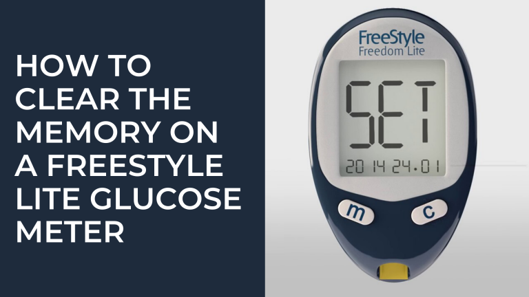 How to clear the Memory on a FreeStyle Lite Glucose Meter