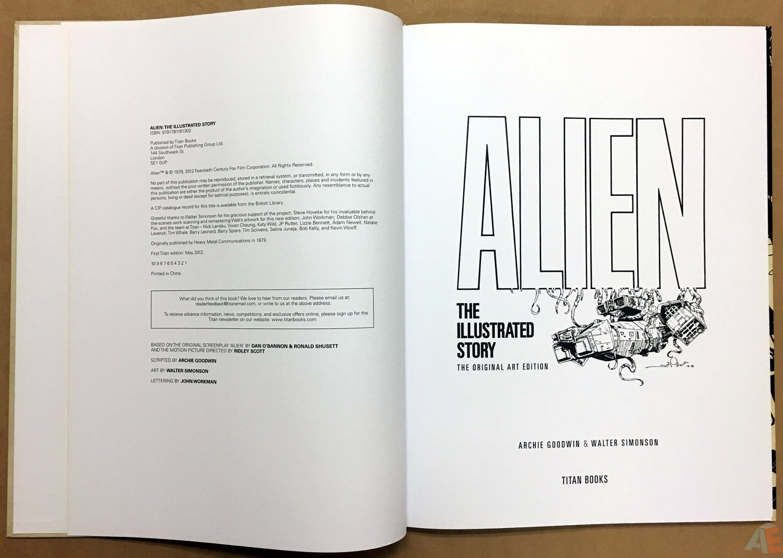 Alien: The Illustrated Story, The Original Art Edition