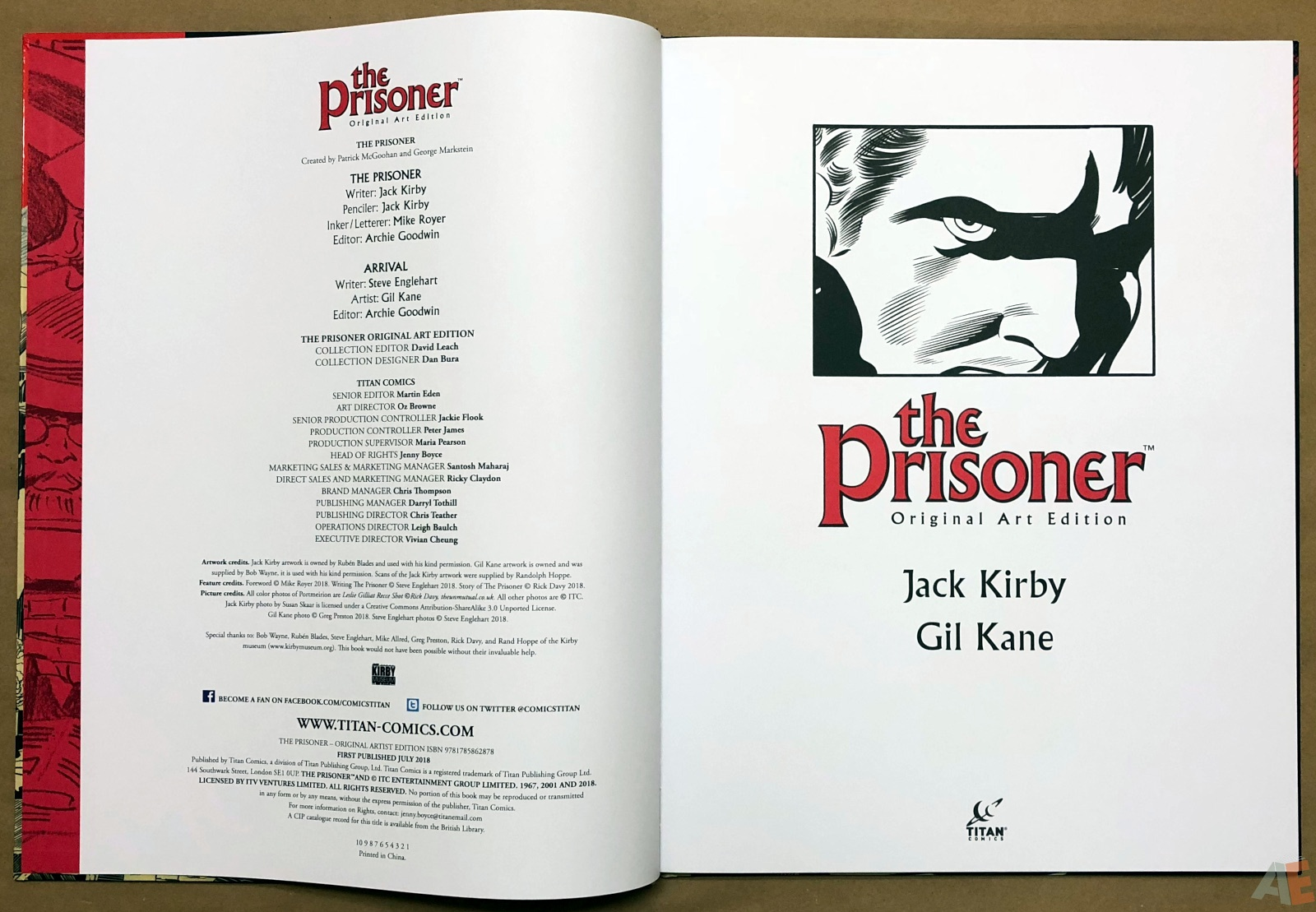 The Prisoner - Original Art Edition