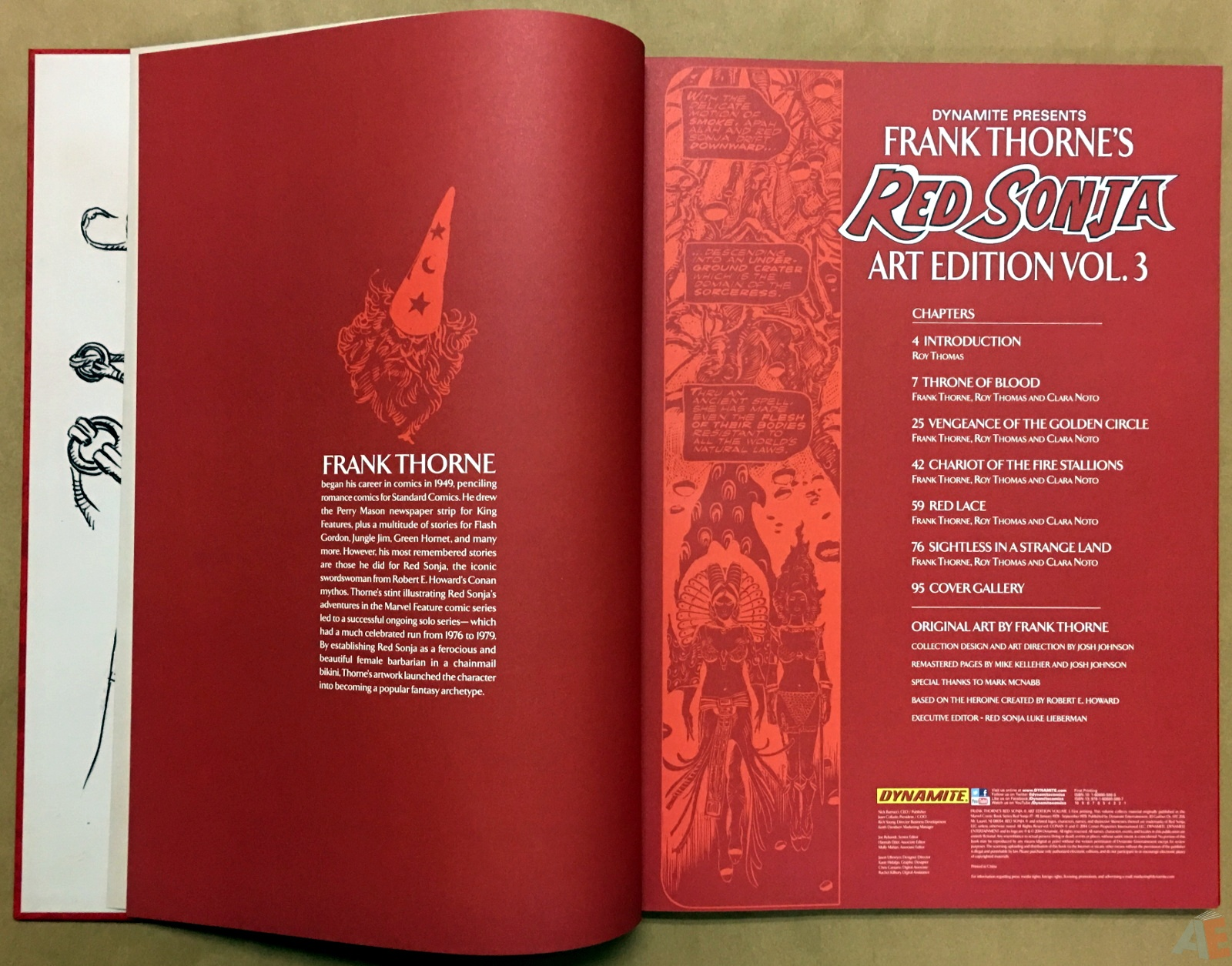 Frank Thorne's Red Sonja Art Edition Volume 3