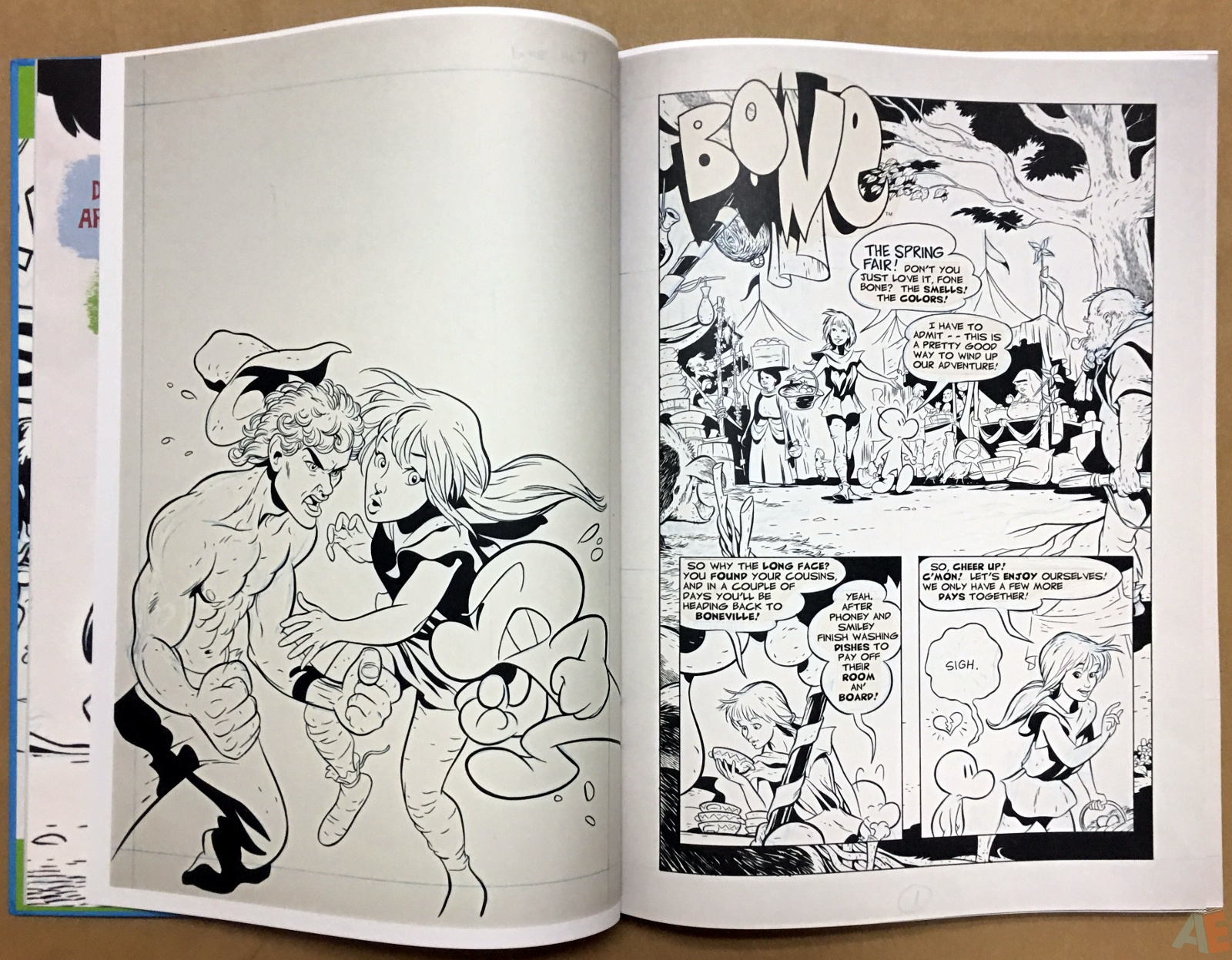 Jeff Smith's Bone: The Great Cow Race Artist's Edition