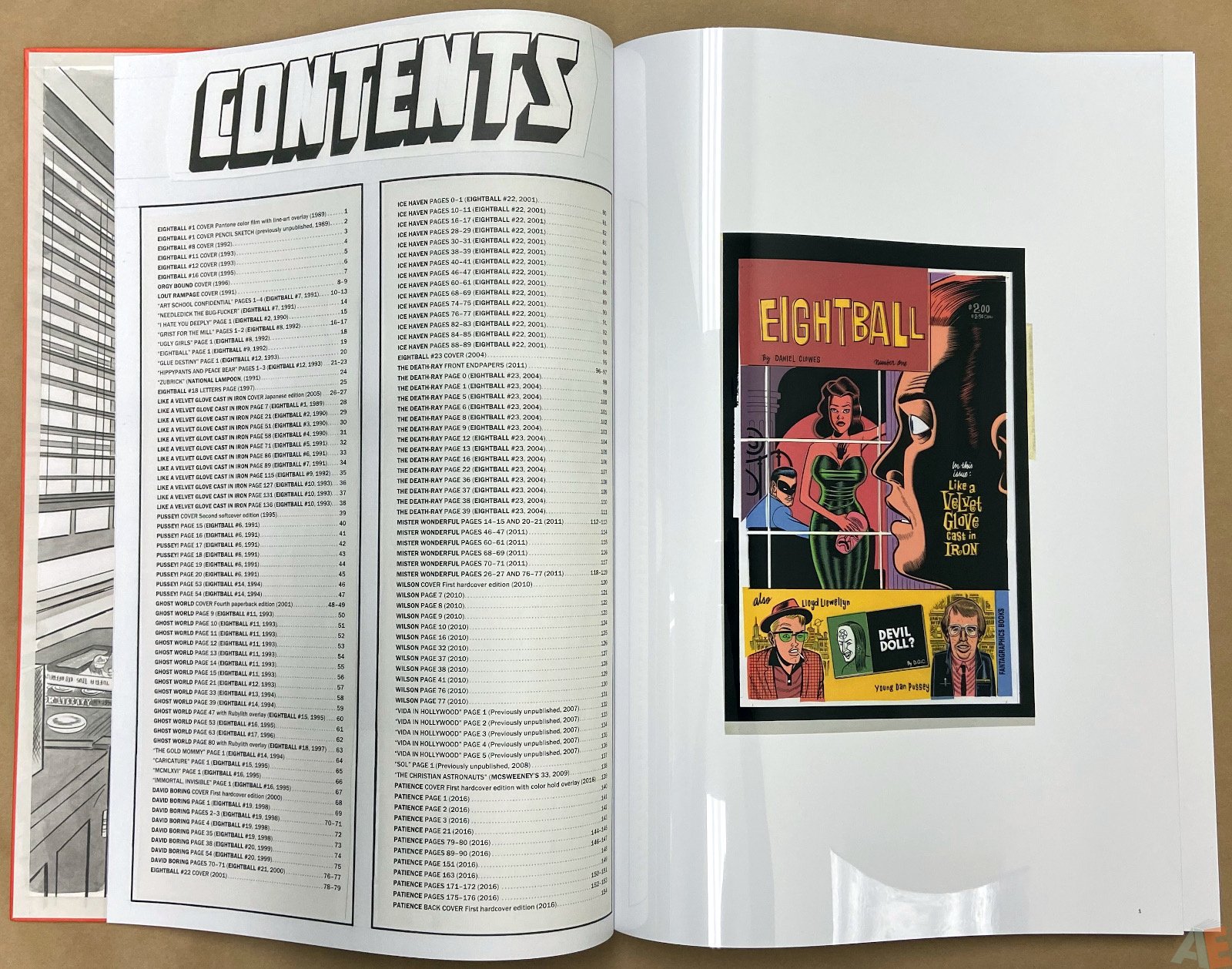 Original Art Daniel Clowes Studio Edition interior 1