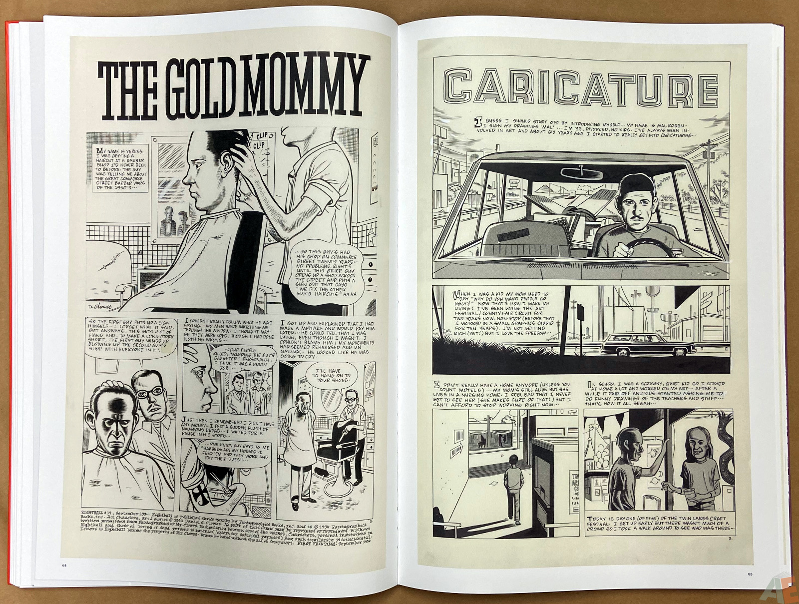Original Art Daniel Clowes Studio Edition interior 11