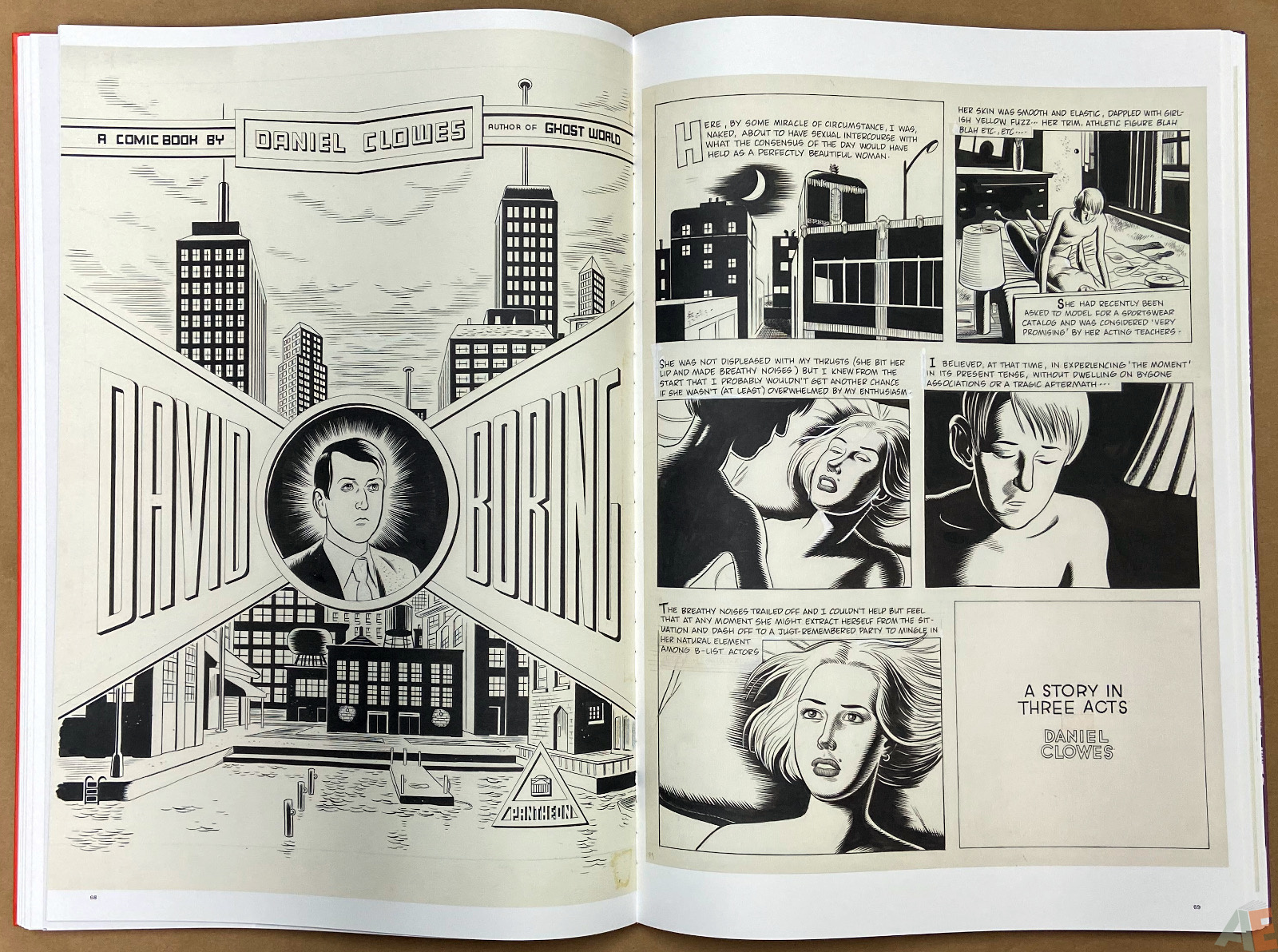 Original Art Daniel Clowes Studio Edition interior 12