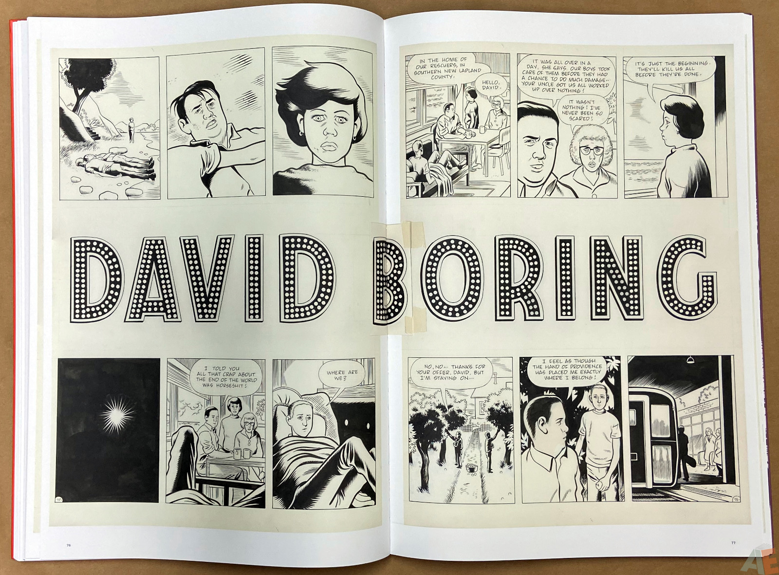 Original Art Daniel Clowes Studio Edition interior 13