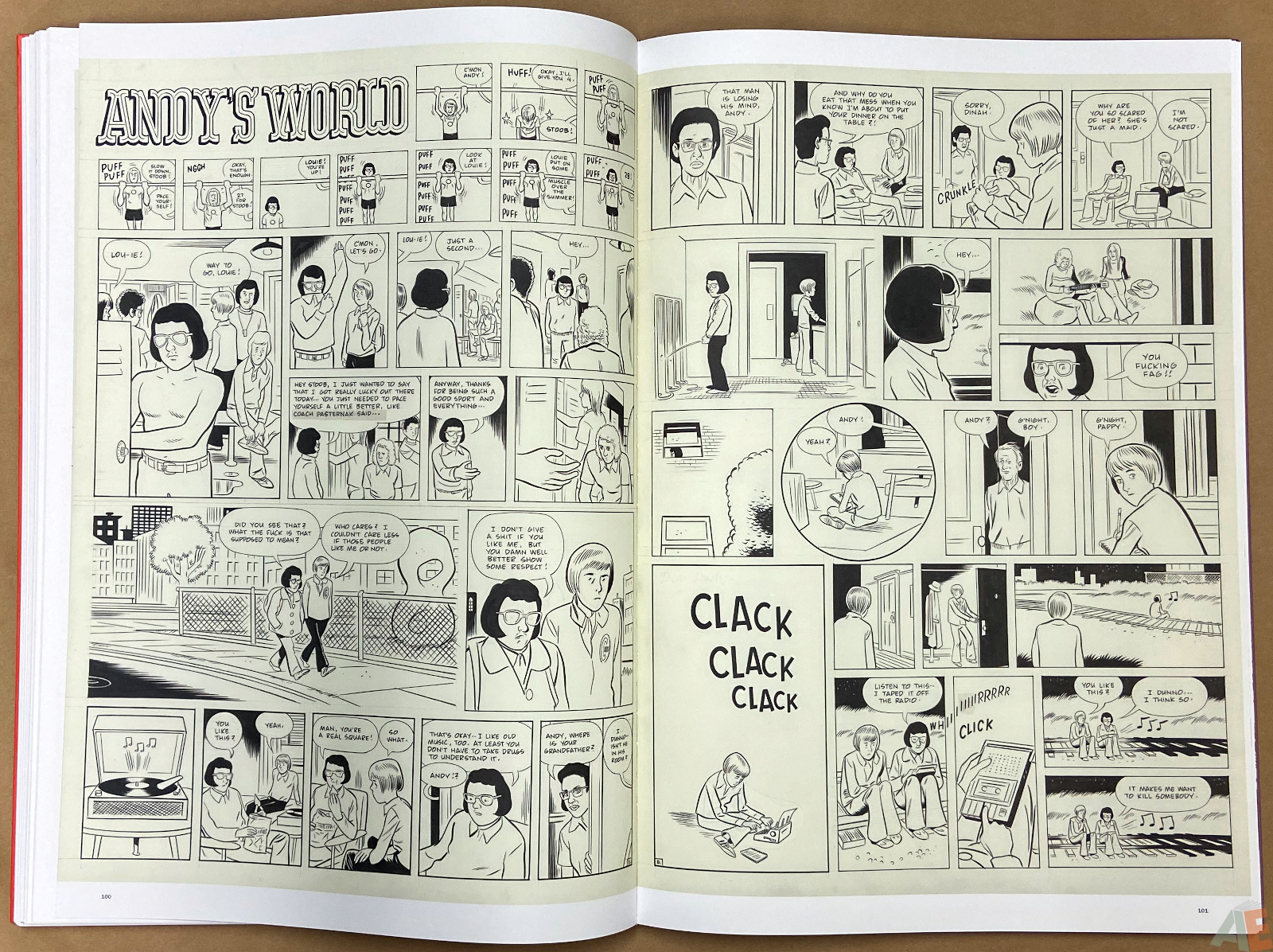 Original Art Daniel Clowes Studio Edition interior 16