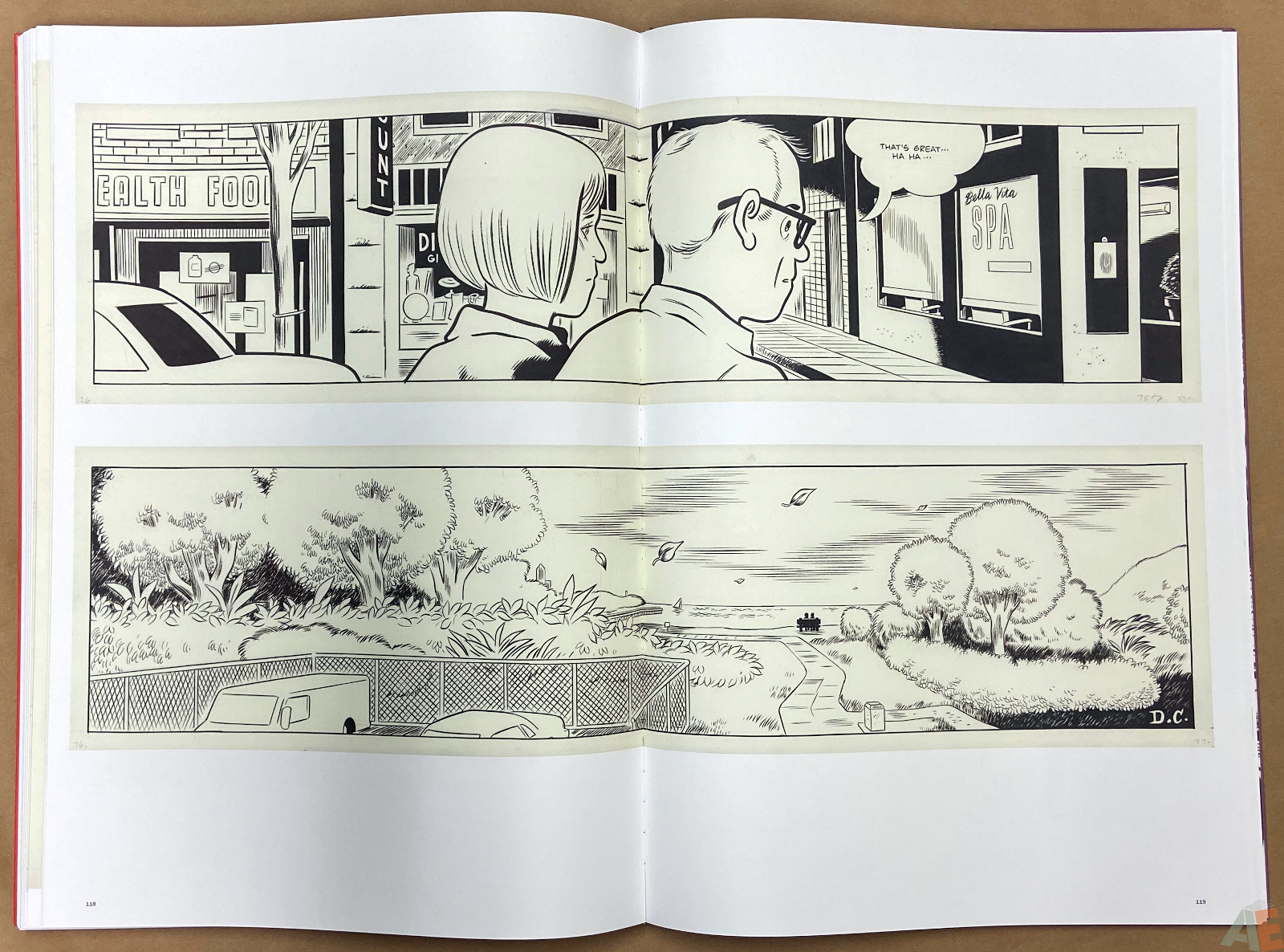 Original Art Daniel Clowes Studio Edition interior 19