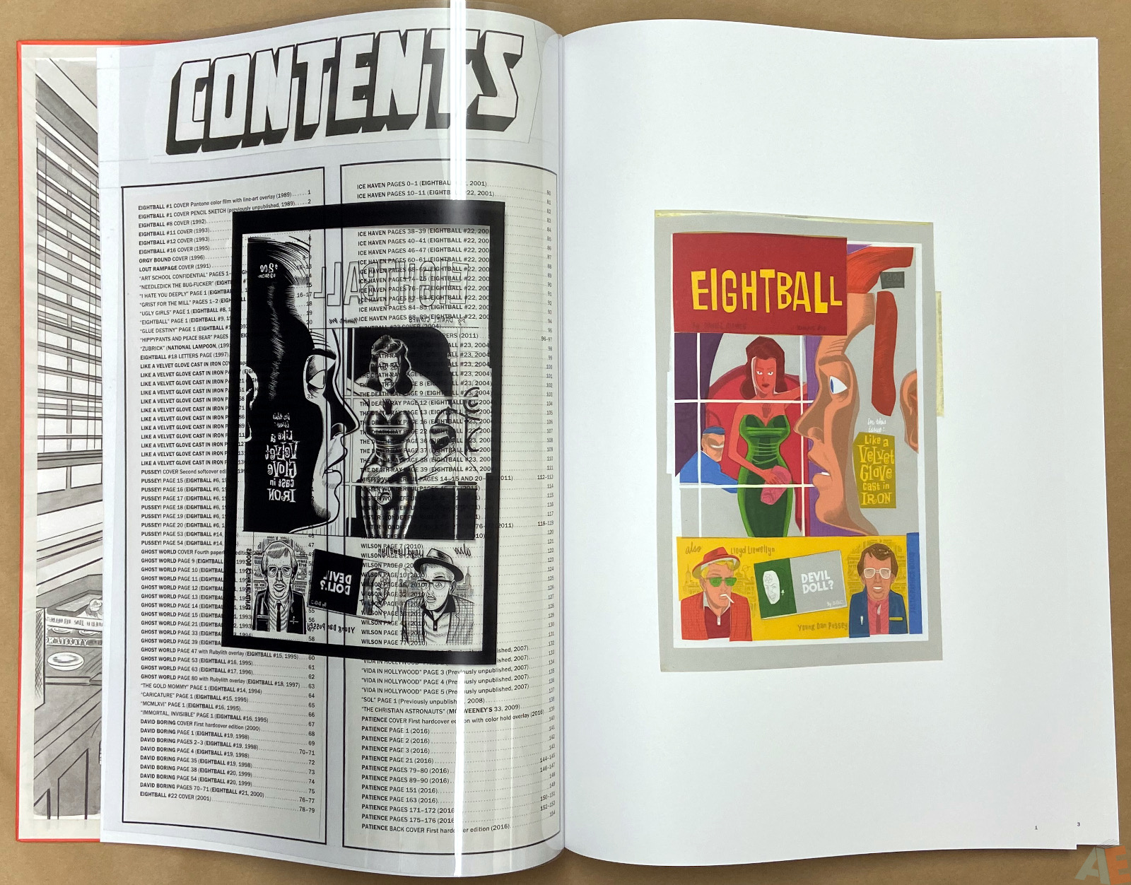 Original Art Daniel Clowes Studio Edition interior 2