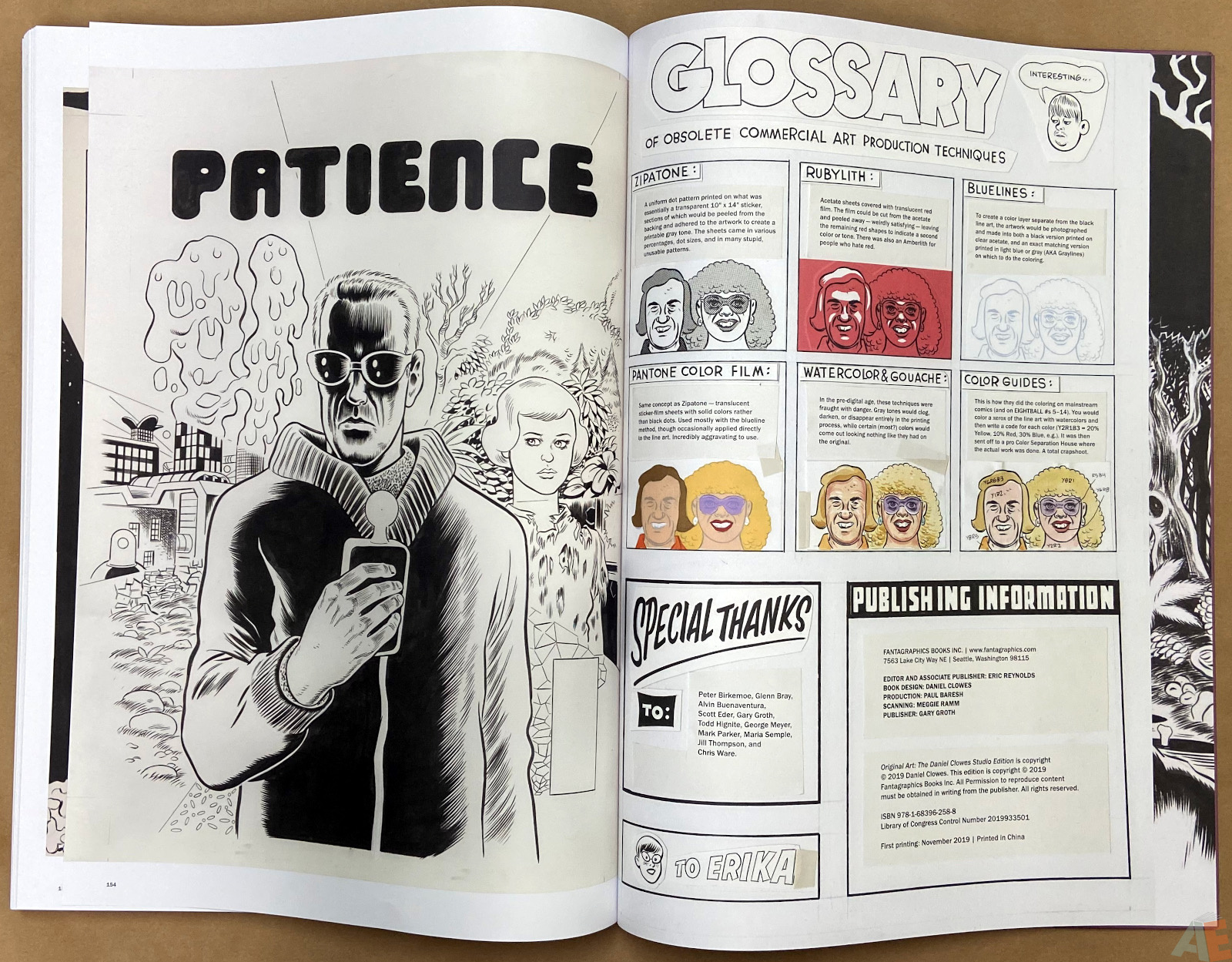 Original Art Daniel Clowes Studio Edition interior 24