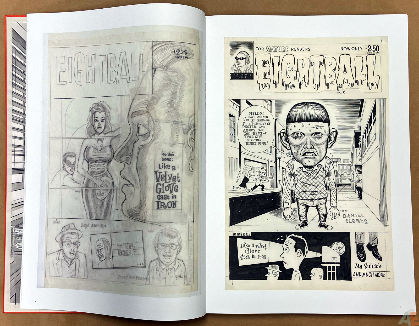 Original Art Daniel Clowes Studio Edition interior 3