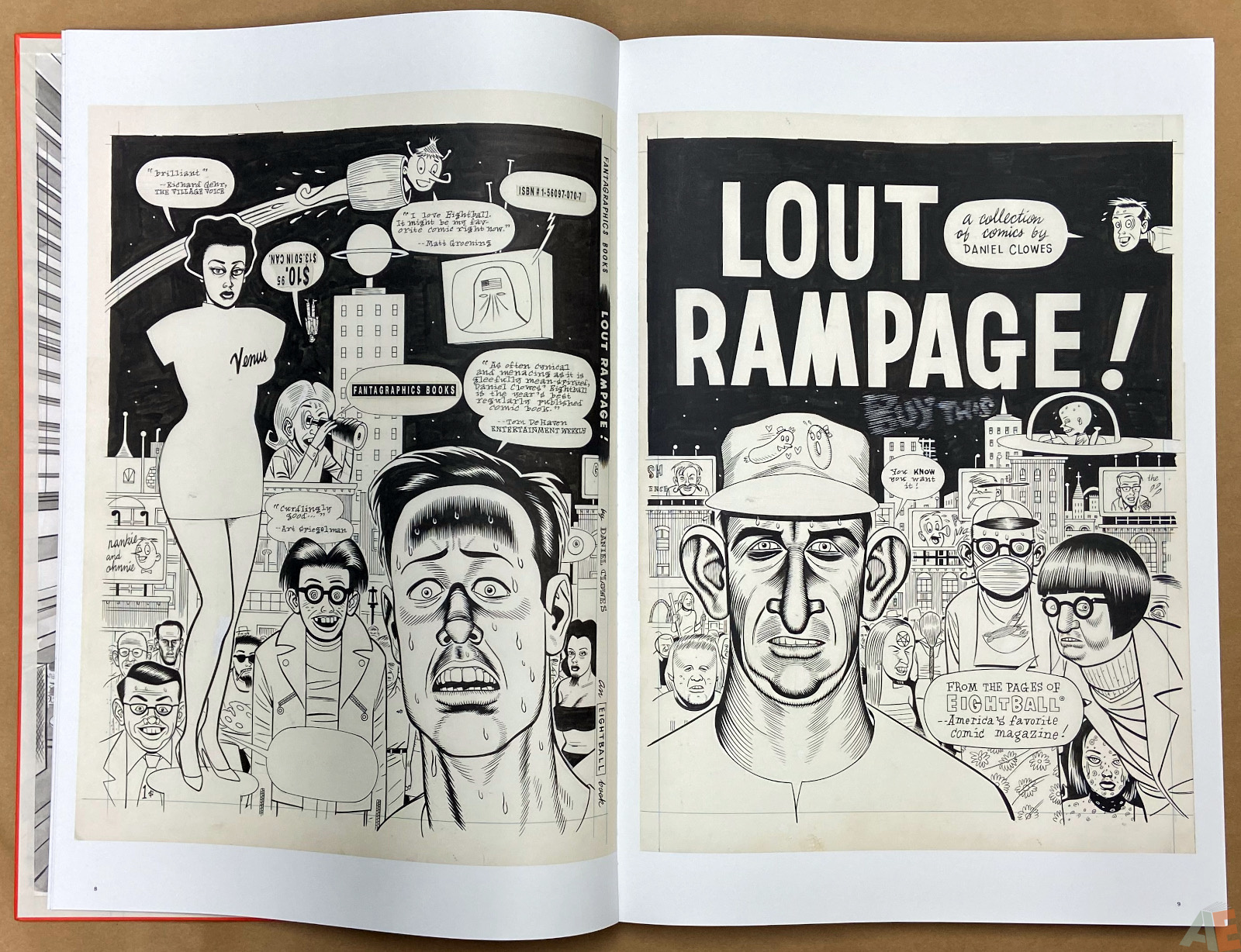 Original Art Daniel Clowes Studio Edition interior 4