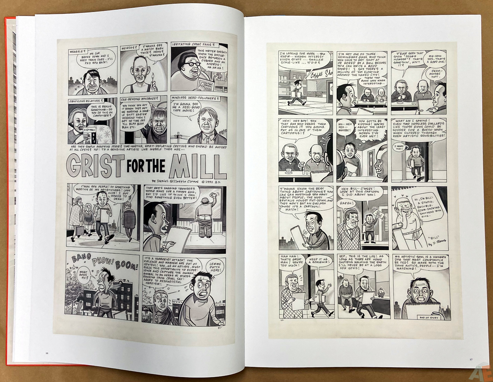 Original Art Daniel Clowes Studio Edition interior 5