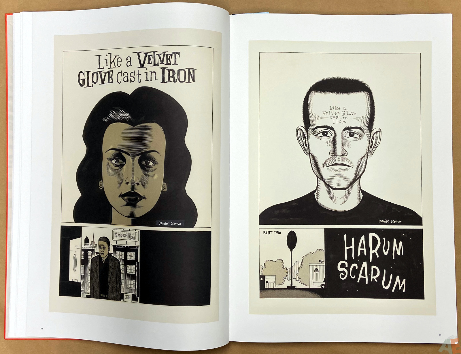 Original Art Daniel Clowes Studio Edition interior 6