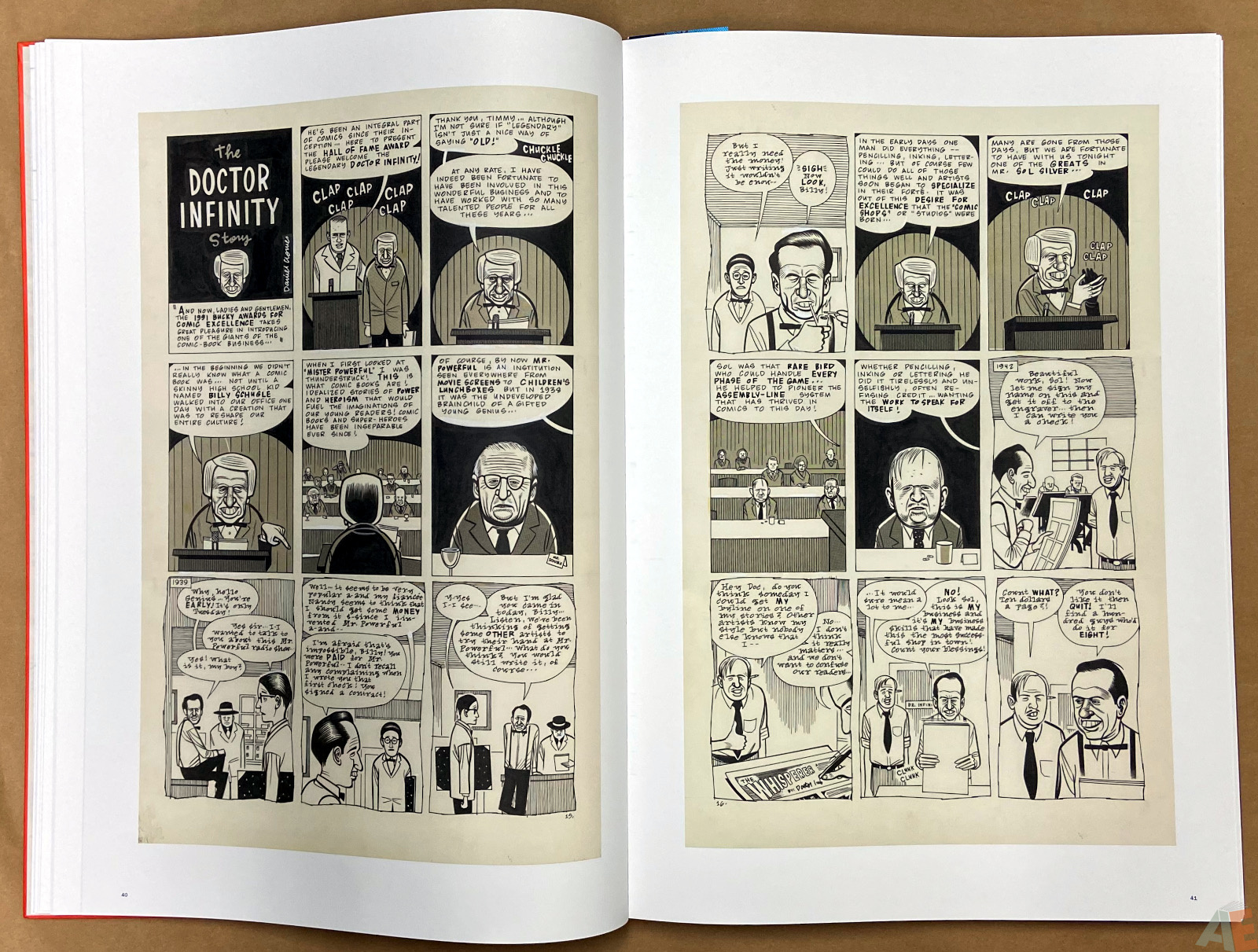 Original Art Daniel Clowes Studio Edition interior 7