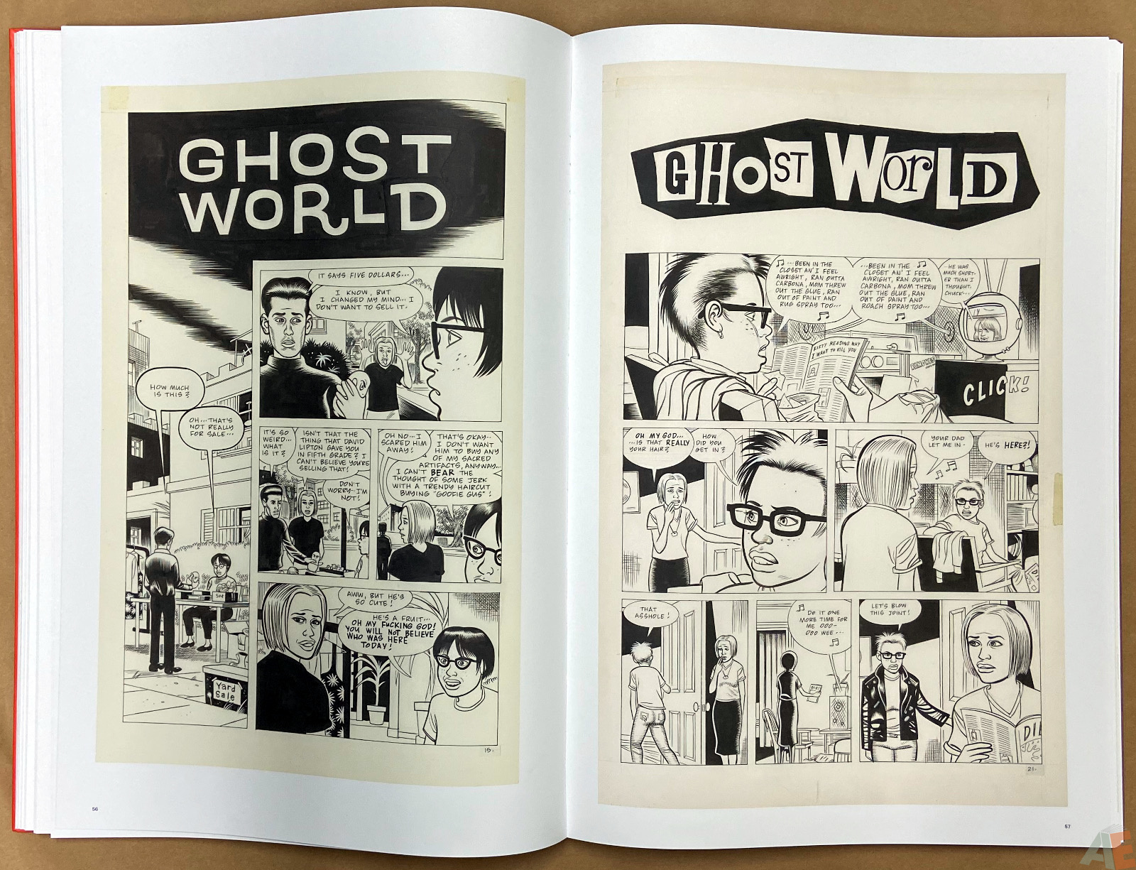 Original Art Daniel Clowes Studio Edition interior 9