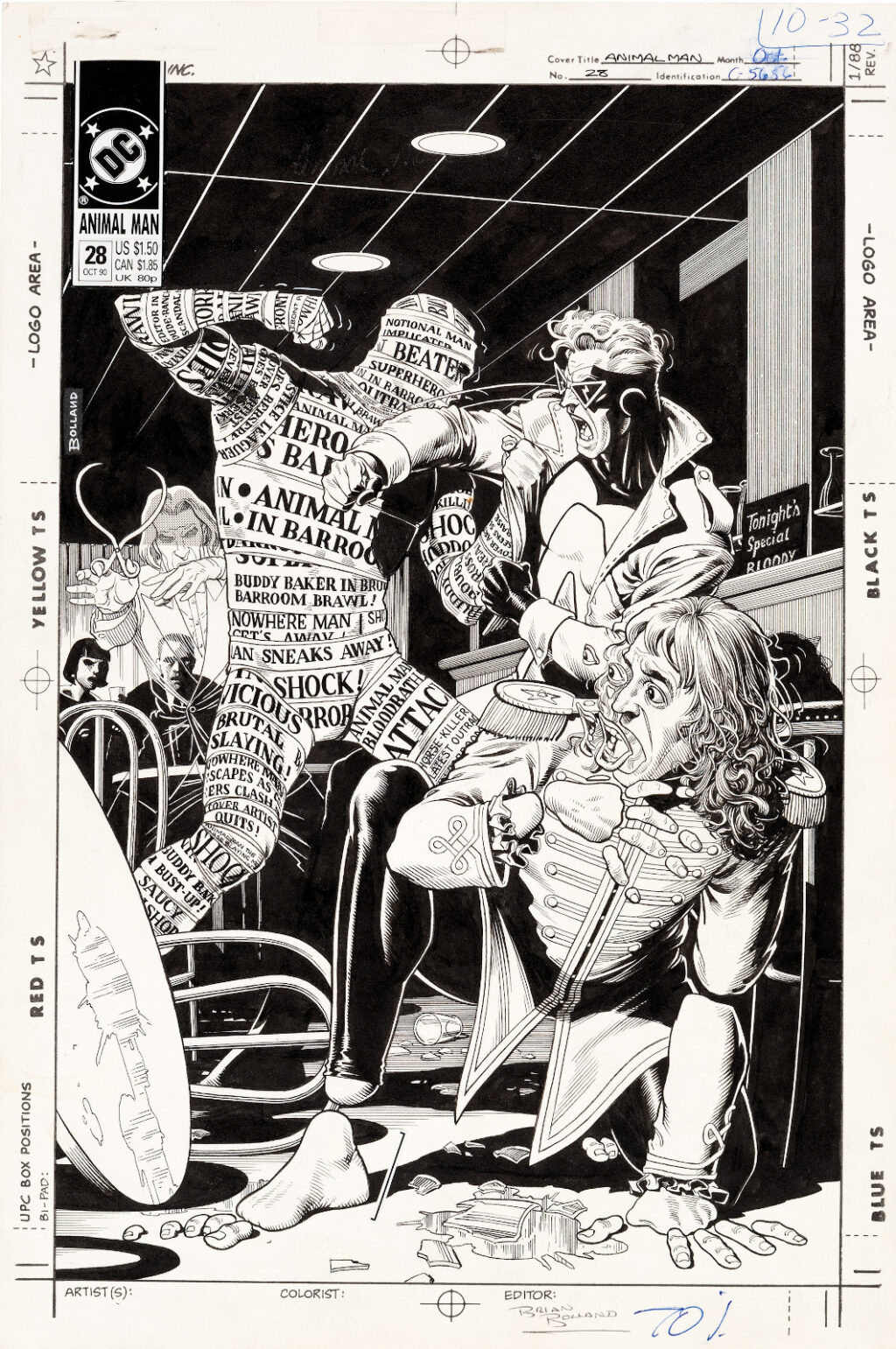 Animal Man issue 28 cover by Brian Bolland