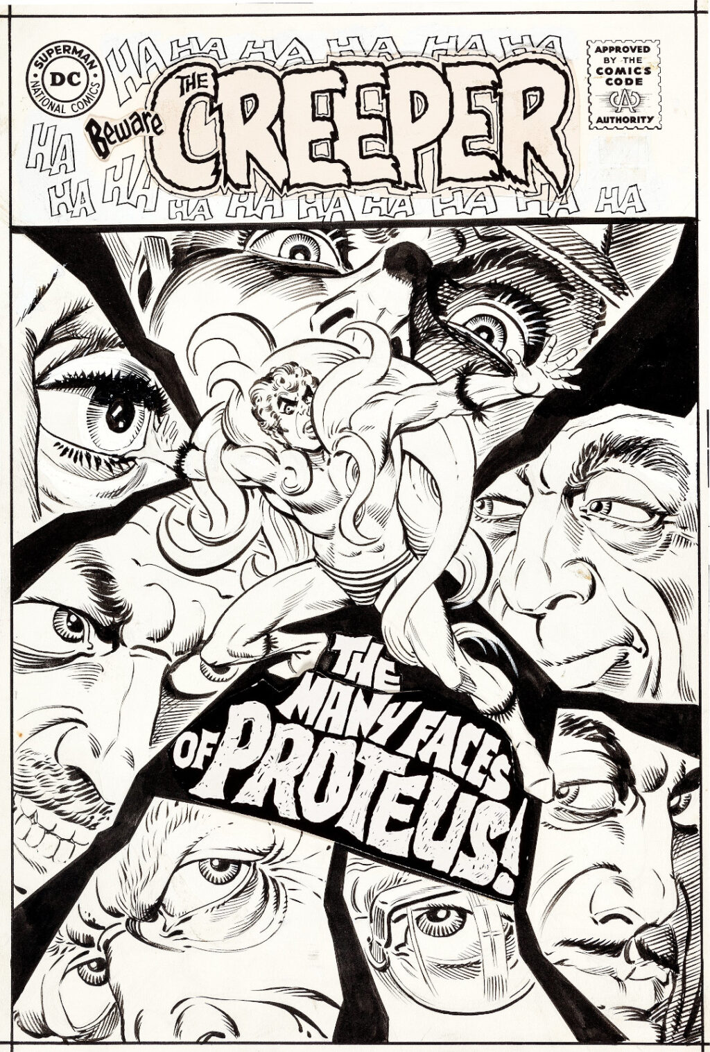 Beware the Creeper issue 2 cover by Steve Ditko