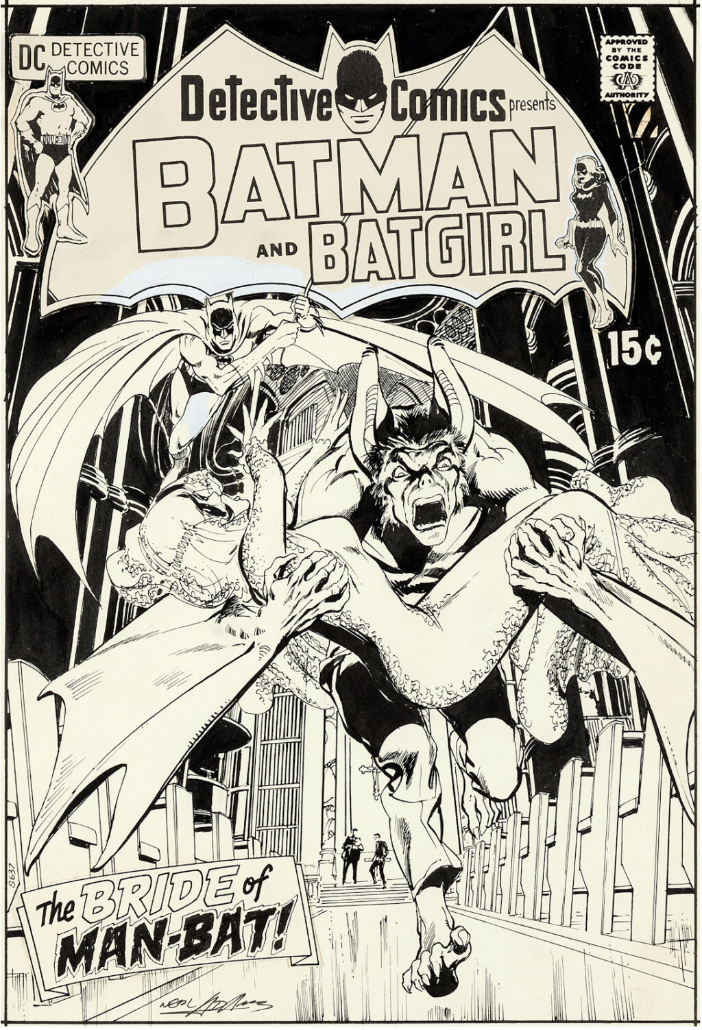 Detective Comics issue 407 cover by Neal Adams