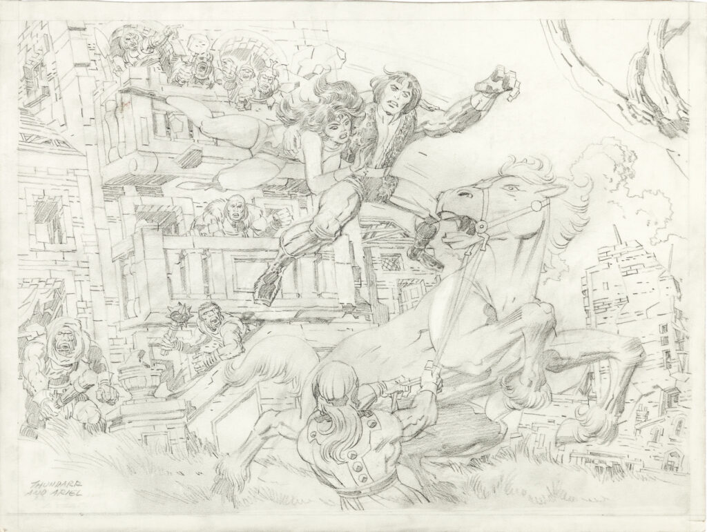 Thundarr the Barbarian concept illustration by Jack Kirby