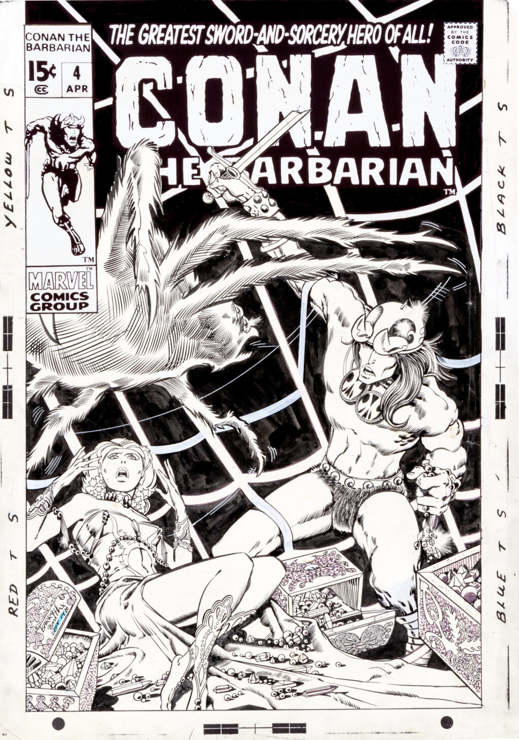 Conan the Barbarian issue 4 cover by Barry Smith