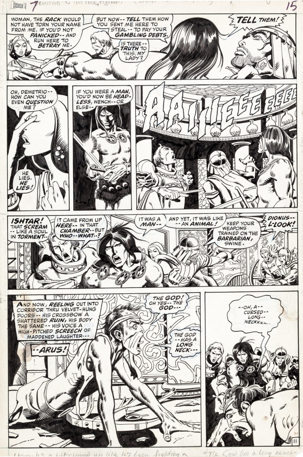 Conan the Barbarian issue 7 page 11 by Barry Smith and Sal Buscema