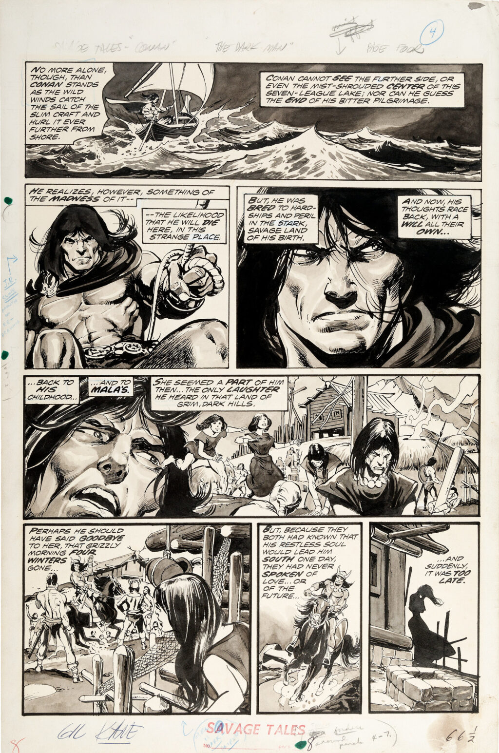Savage Tales issue 4 page 4 by Gil Kane and Neal Adams
