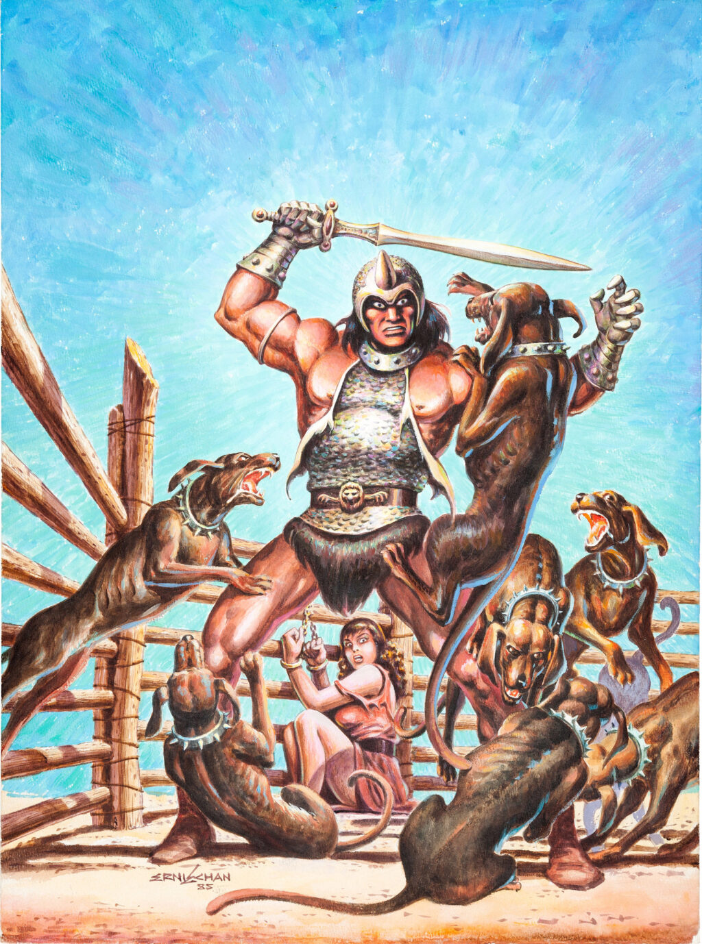 The Savage Sword of Conan issue 119 cover by Ernie Chan