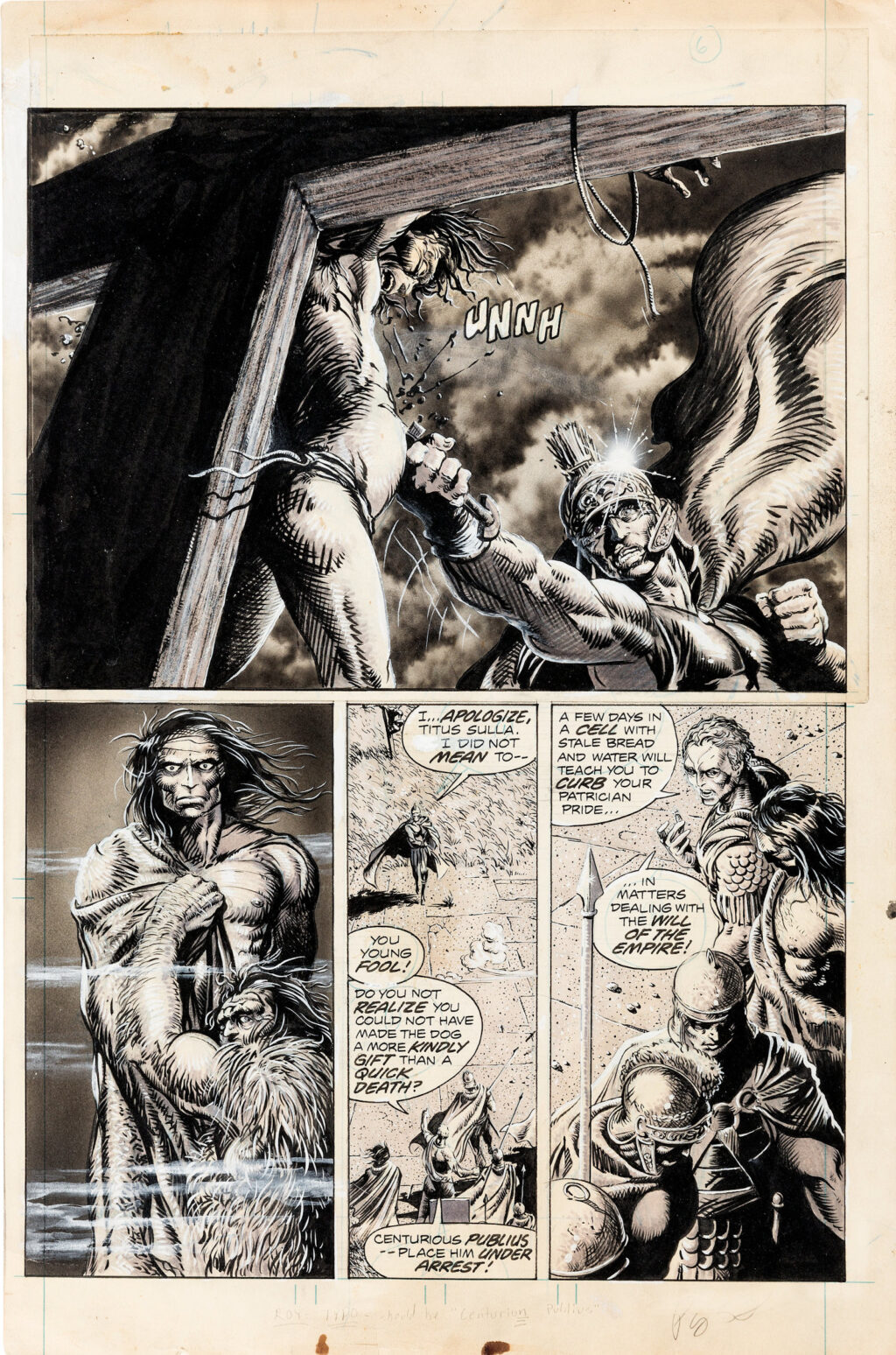 The Savage Sword of Conan issue 16 page 53 by Barry Smith and Tim Conrad