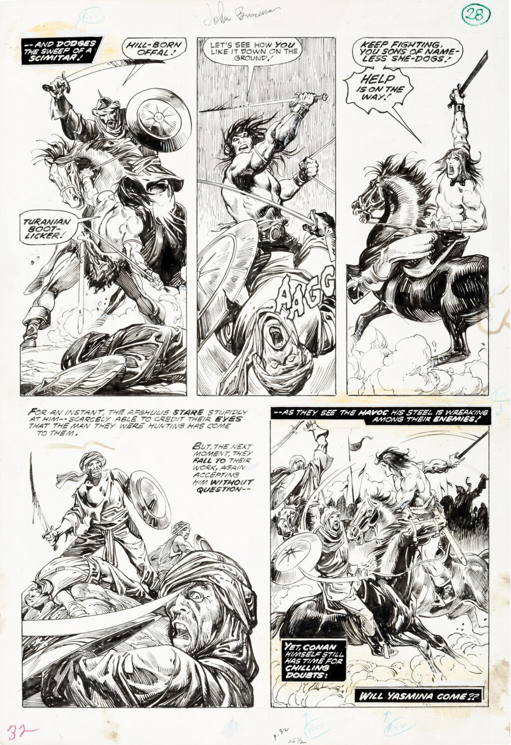 The Savage Sword of Conan issue 19 age 28 by John Buscema and Alfredo Alcala