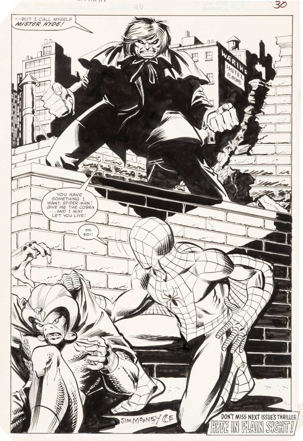 Amazing Spider Man issue 231 page 22 by John Romita Jr. and Jim Mooney