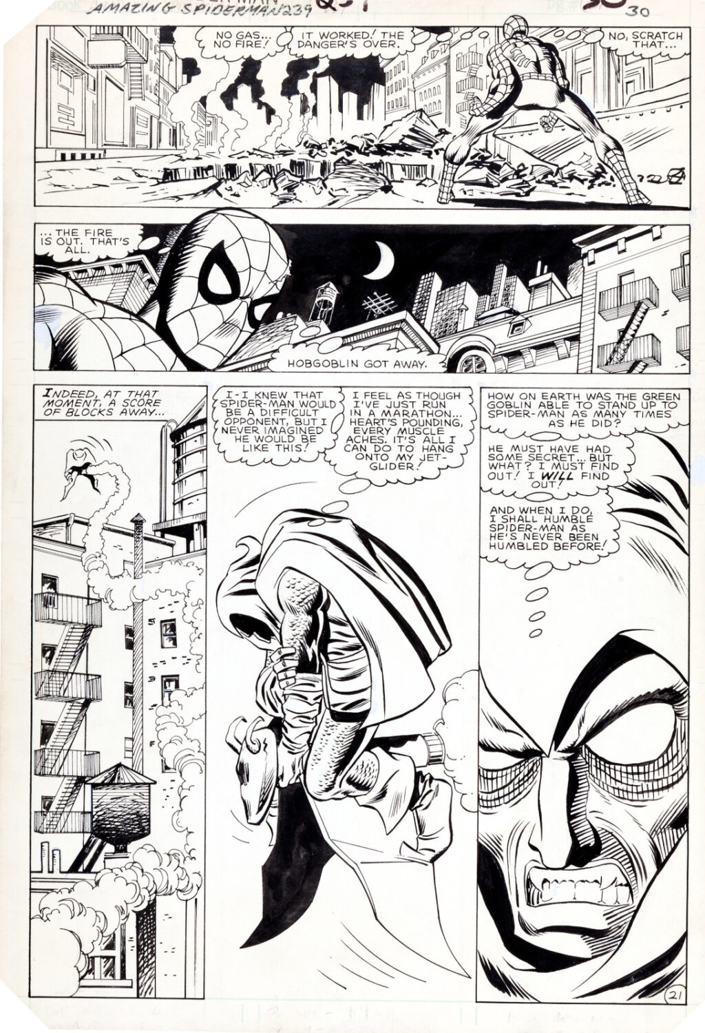 Amazing Spider Man issue 239 page 21 by John Romita Jr. and Frank Giacoia