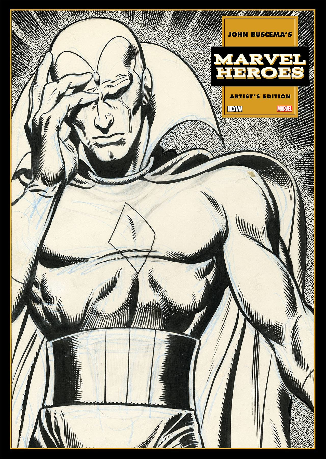 John Buscema's Marvel Heroes Artist's Edition cover prelim