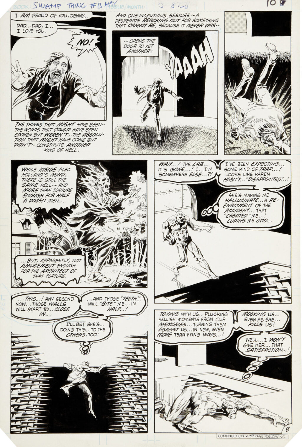 Saga of the Swamp Thing issue 13 page 8 by Tom Yeates