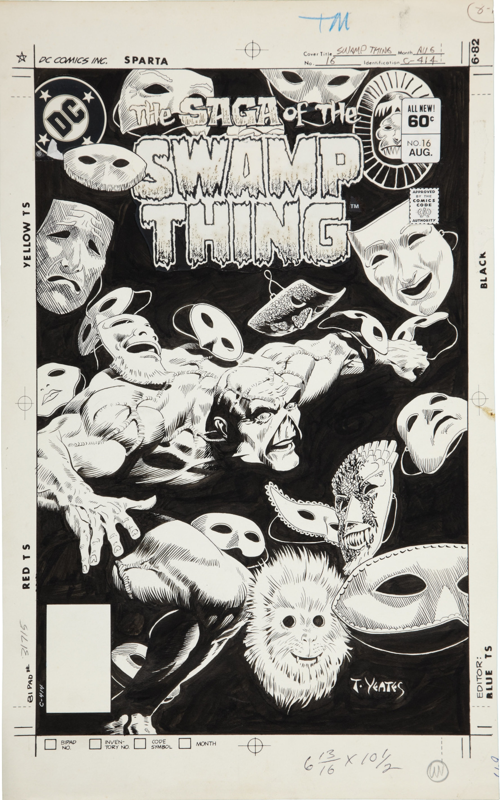 Saga of the Swamp Thing issue 16 cover by Tom Yeates