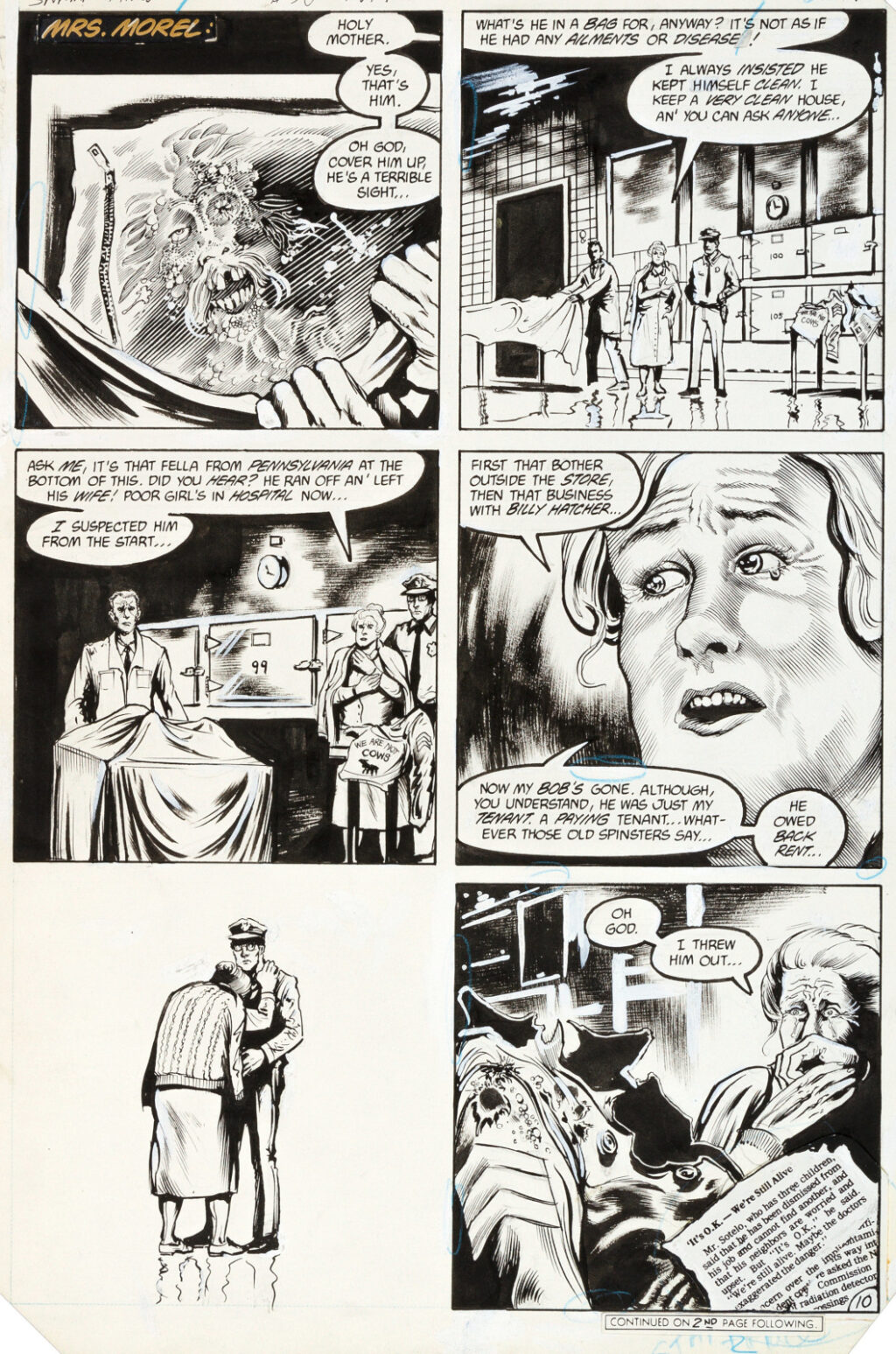 Saga of the Swamp Thing issue 36 page 10 by Stephen Bissette and John Totleben