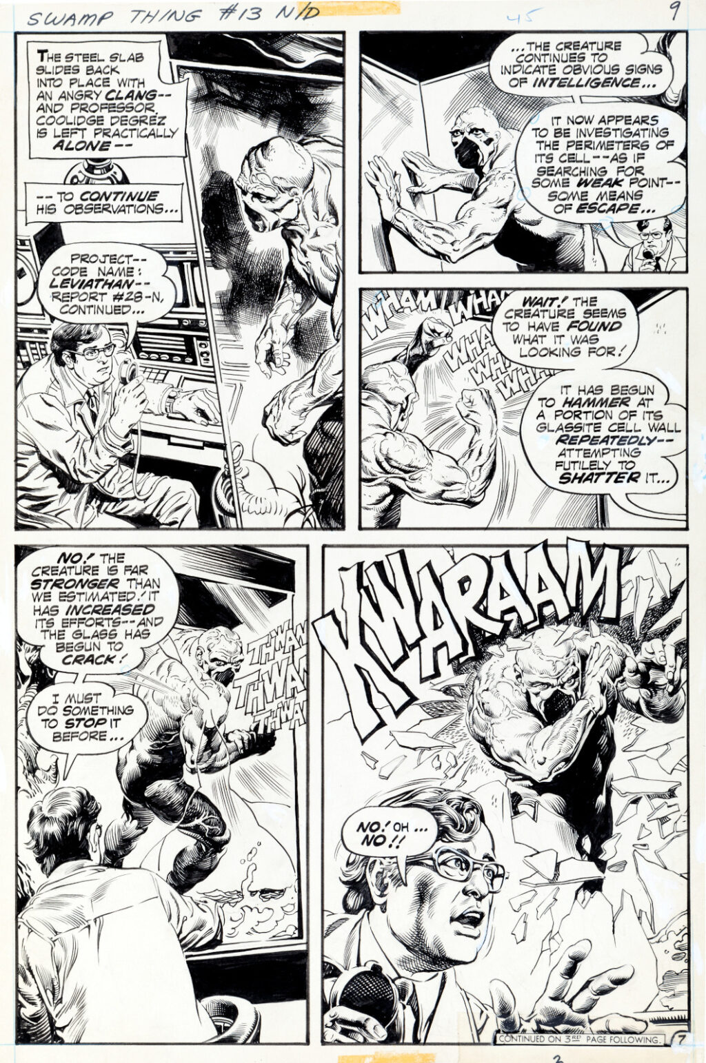 Swamp Thing issue 13 page 7 by Nestor Redondo