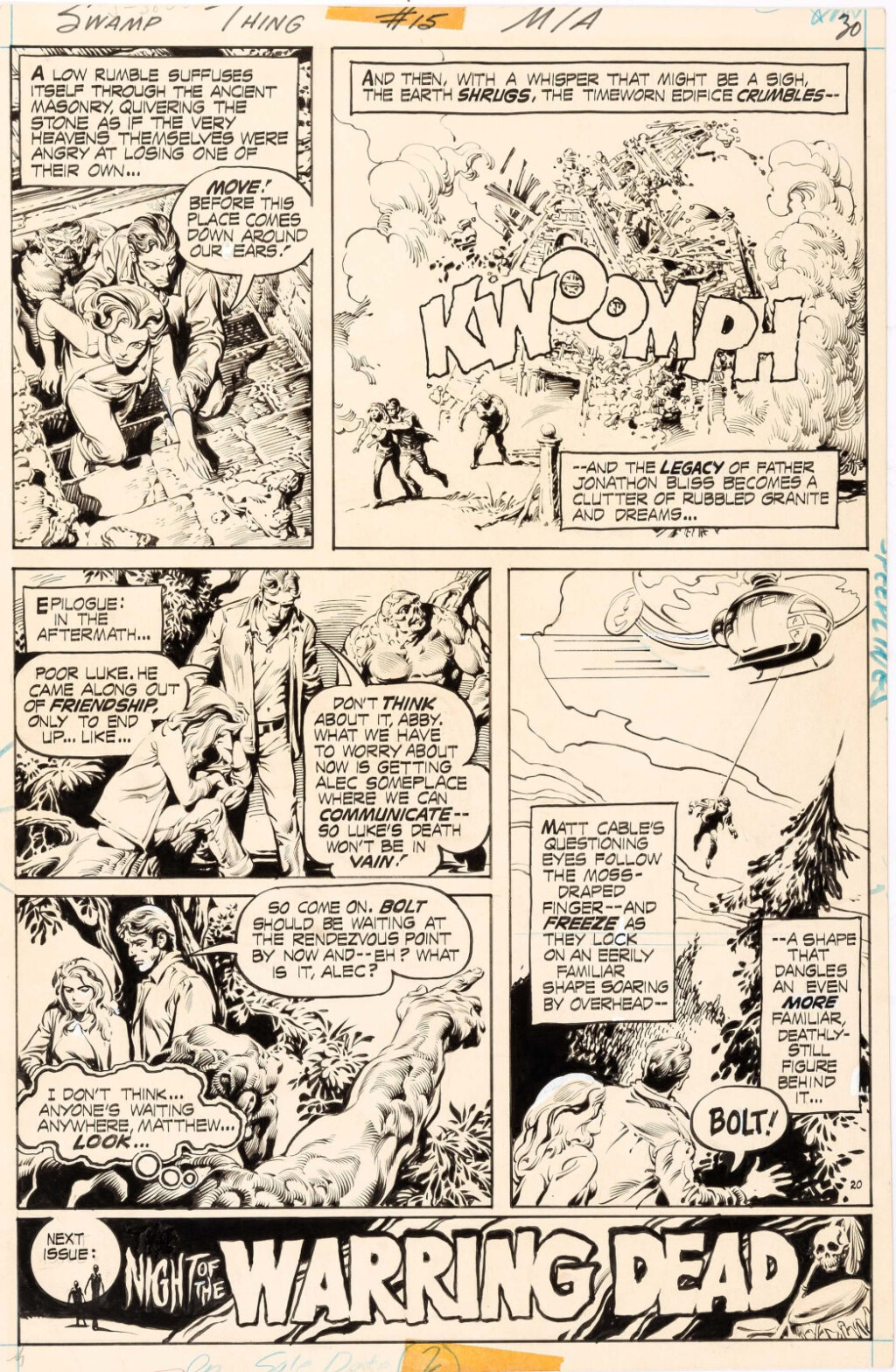 Swamp Thing issue 15 page 20 by Nestor Redondo
