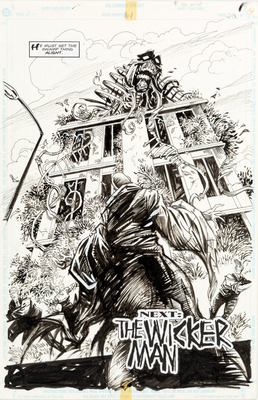Swamp Thing issue 161 page 22 by Phil Hester and Kim DeMulder